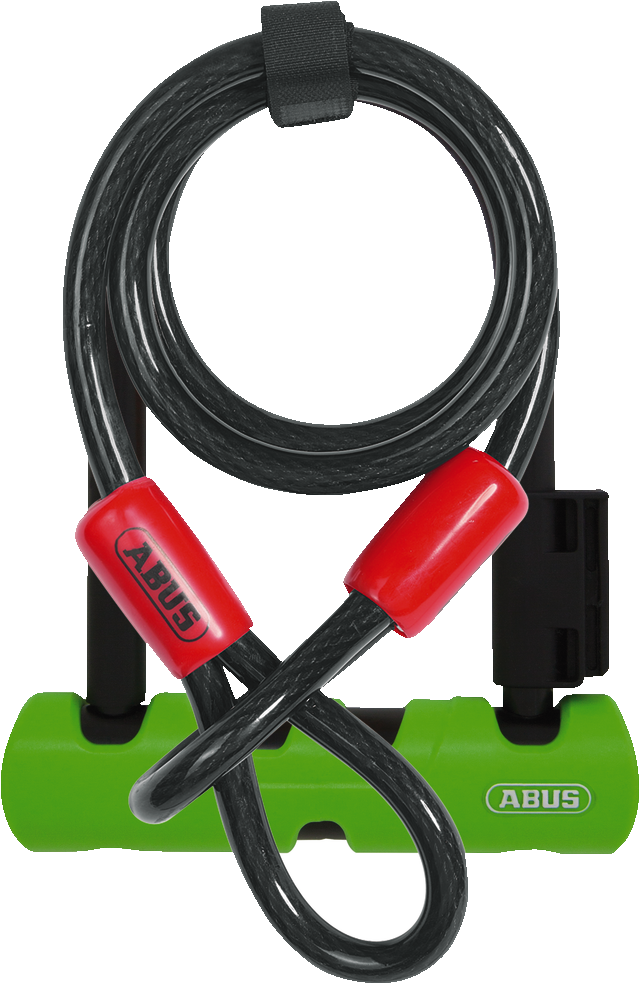 Abus Ultra Mini 410/150HB140 Bügelschloss mit Cobra 10/120 Kabel