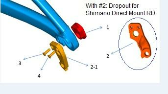 GIANT Ausfallende / Fathom E+ MY19 - MY20, Vall-E+ MY20 / Shimano Direct mount