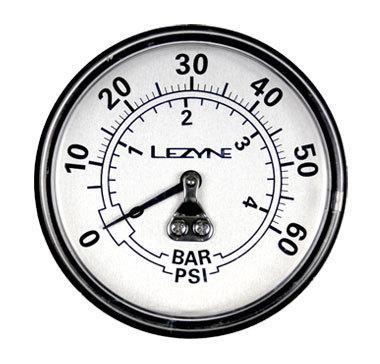 Lezyne Manometer 60 PSI 2.5 Gauge