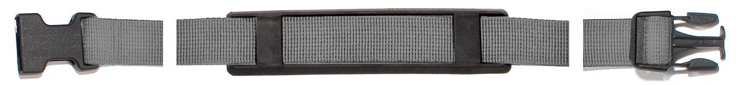 Ortlieb Tragegurt 80 cm mit Stecker und Gehäuseteil, Stealth, 25 mm