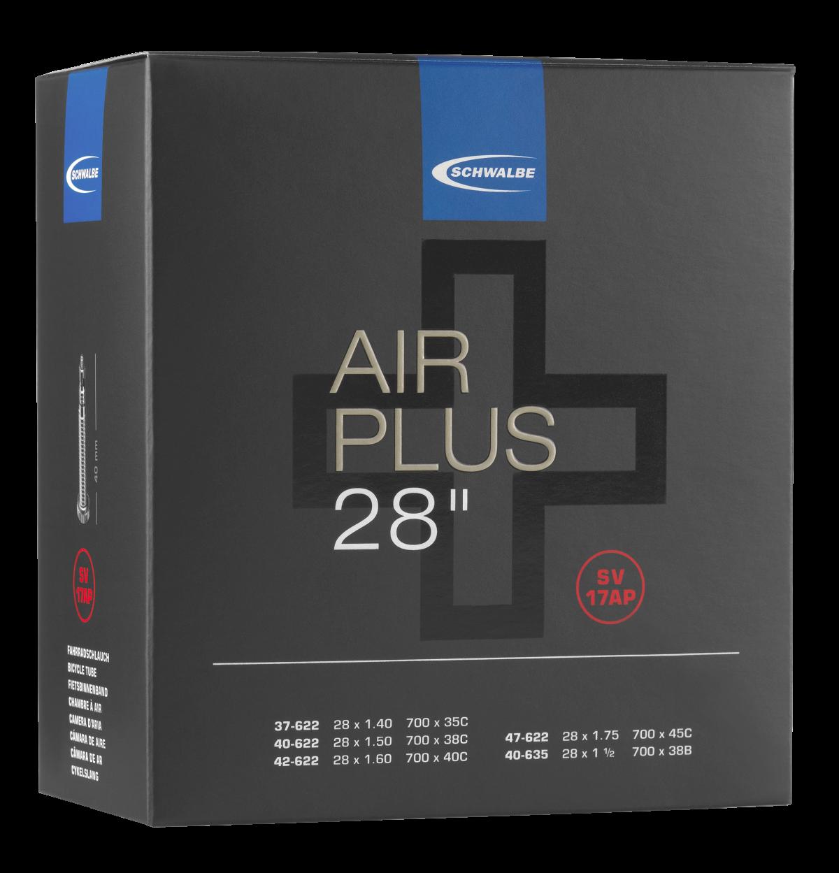 "Schwalbe Air Plus Schlauch 28"" No. 17AP ( SV17AP, AV17AP)"