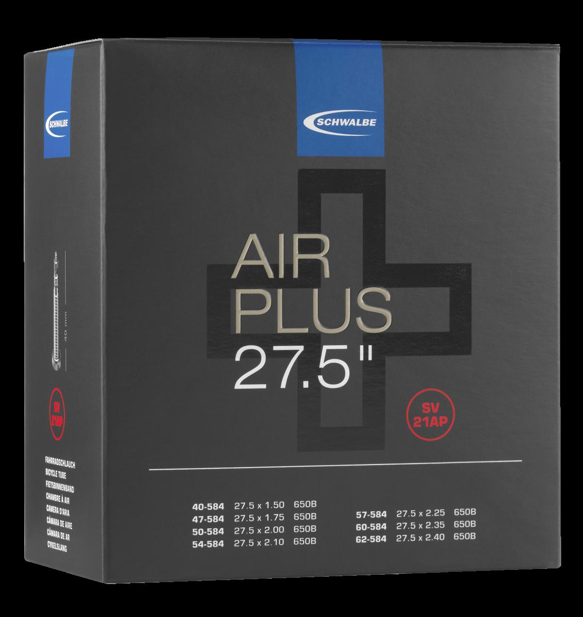 "Schwalbe Air Plus Schlauch 27.5"" No. 21AP (SV21AP, AV21AP)"