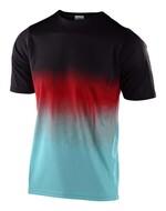 Troy Lee Designs Skyline Jugend Trikot schwarz/türkis