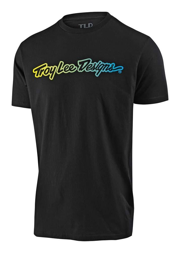 Troy Lee Designs Signature Jugend T-Shirt schwarz