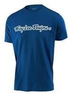 Troy Lee Designs Signature Jugend T-Shirt blau