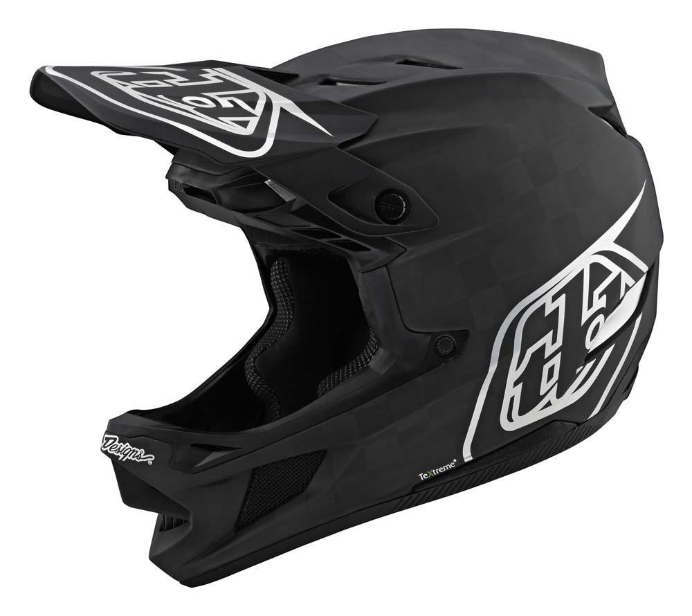 Troy Lee Designs D4 Carbon Fullface Helm schwarz/silber