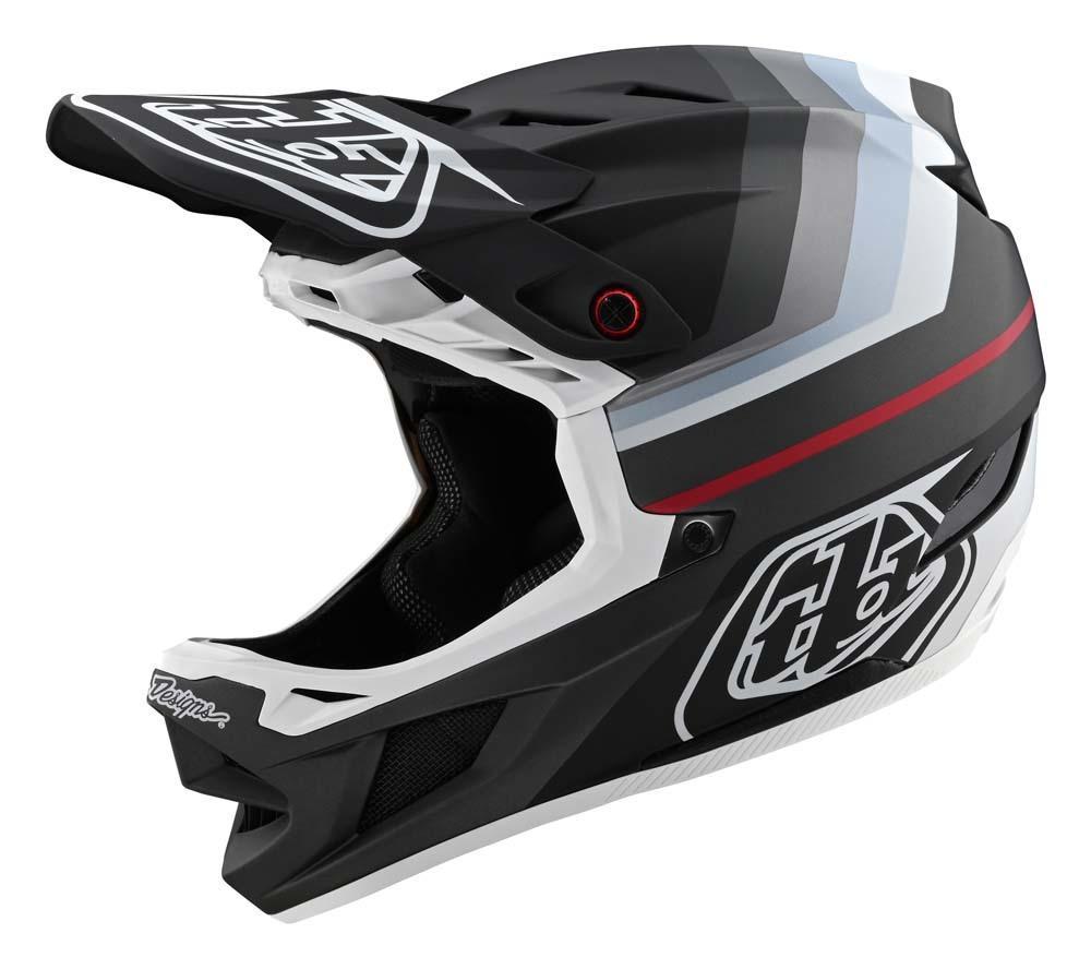 Troy Lee Designs D4 Composite Fullface Helm schwarz/silber