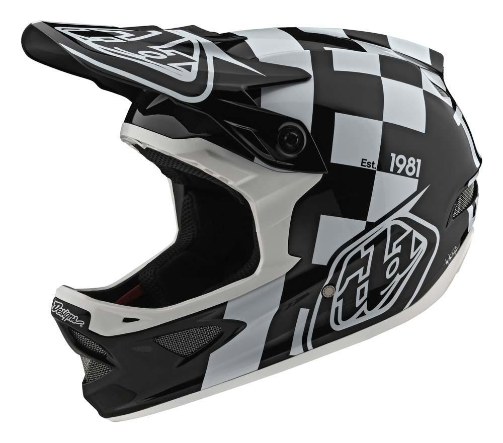 Troy Lee Designs D3 Fiberlite Fullface Helm schwarz/grau