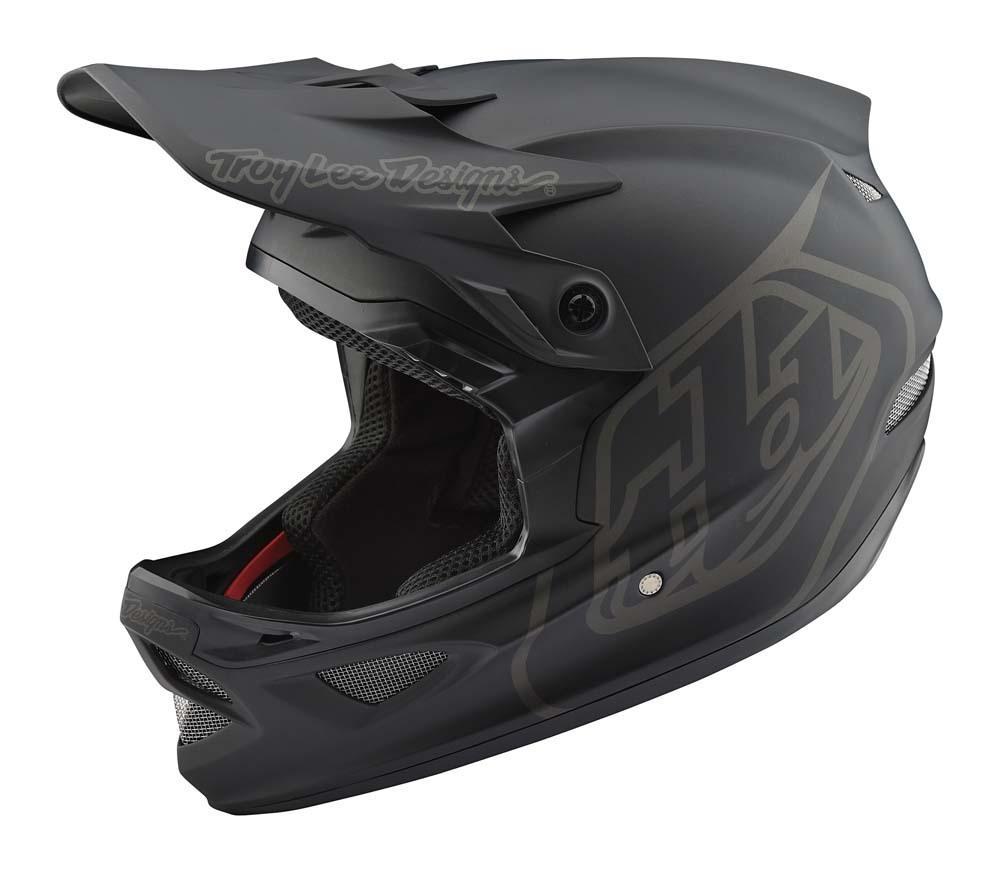 Troy Lee Designs D3 Fiberlite Fullface Helm schwarz