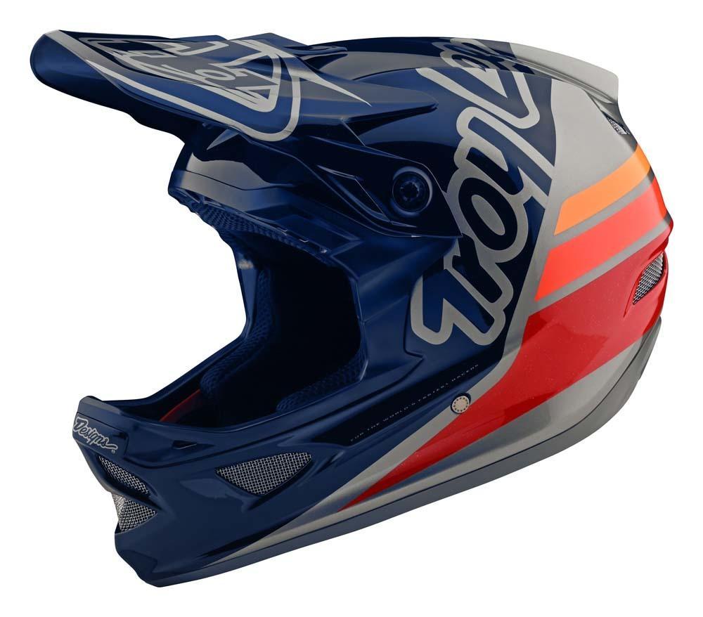 Troy Lee Designs D3 Fiberlite Fullface Helm blau/grau