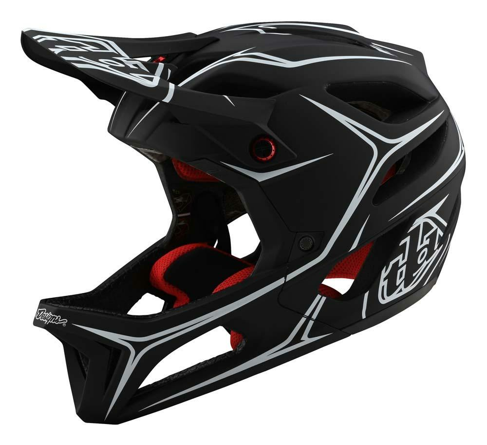 Troy Lee Designs Stage All Mountain Fullface Helm schwarz/weiss