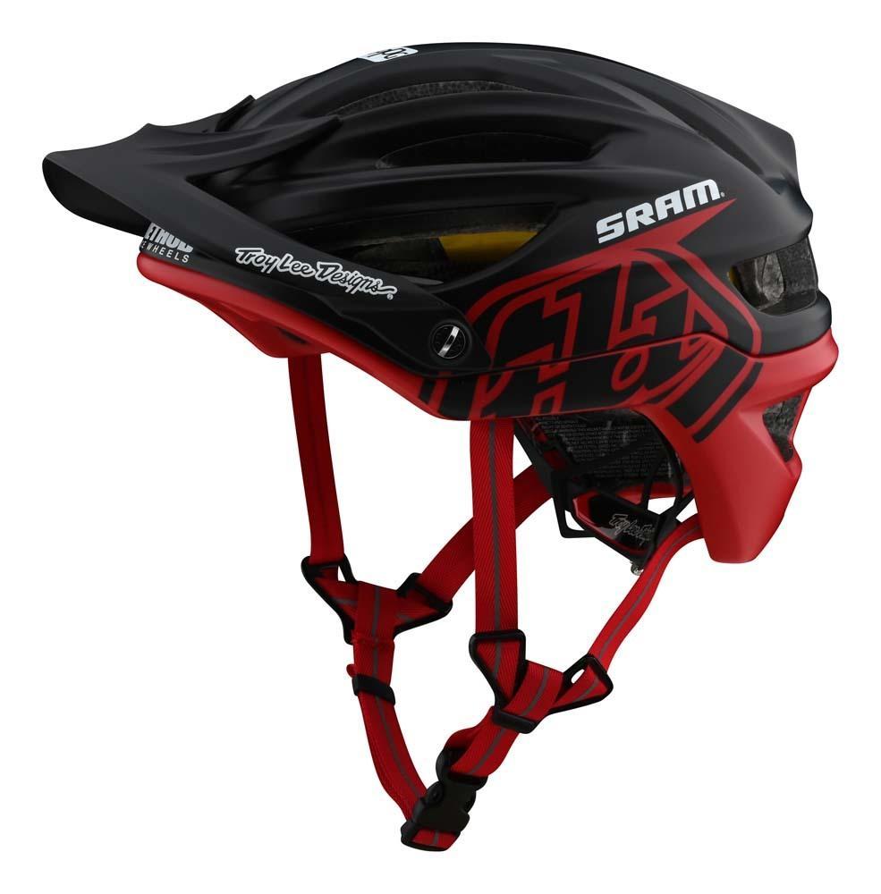 Troy Lee Designs A2 Mountainbike Helm schwarz/rot