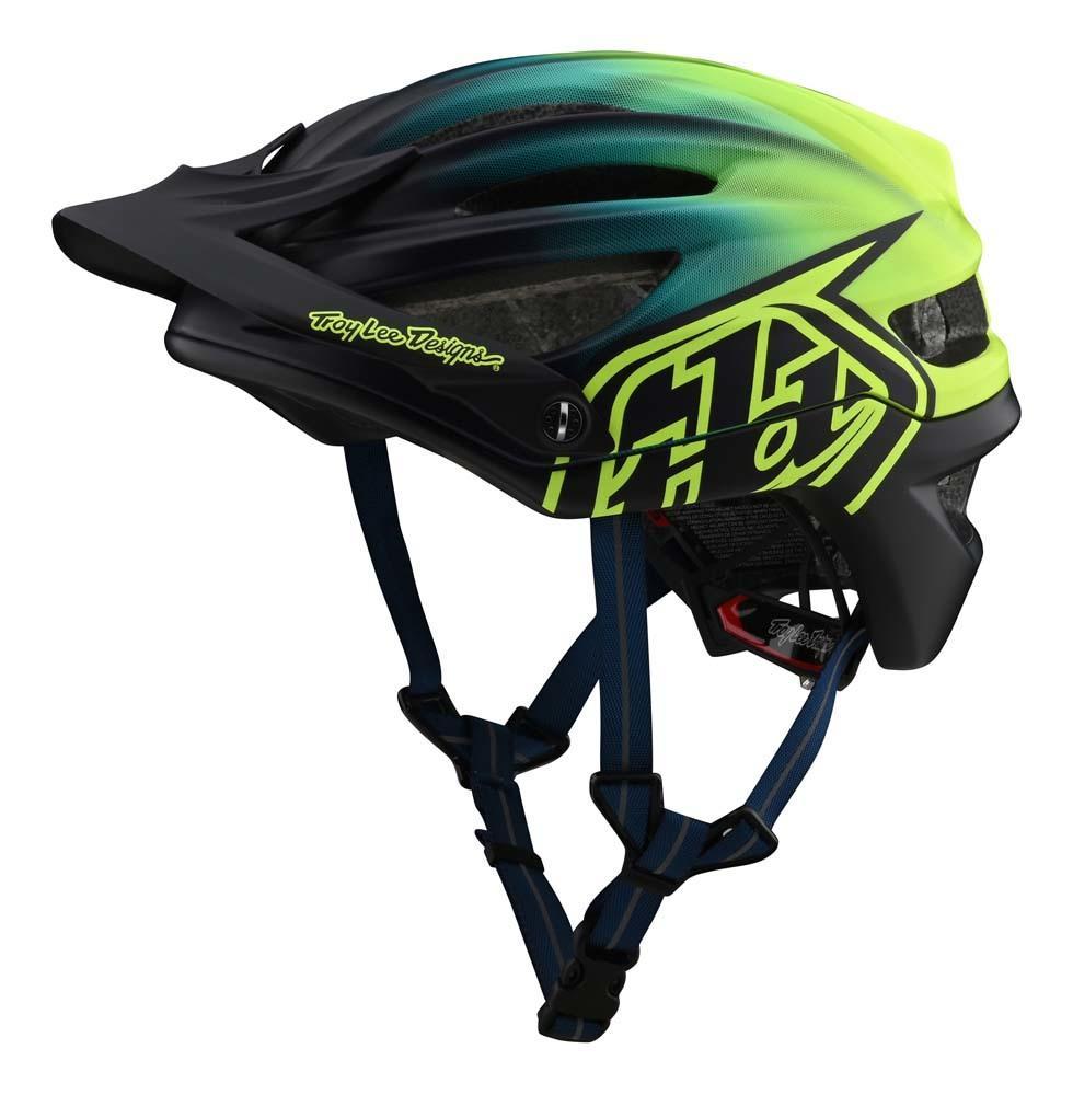 Troy Lee Designs A2 Mountainbike Helm navy/neongelb