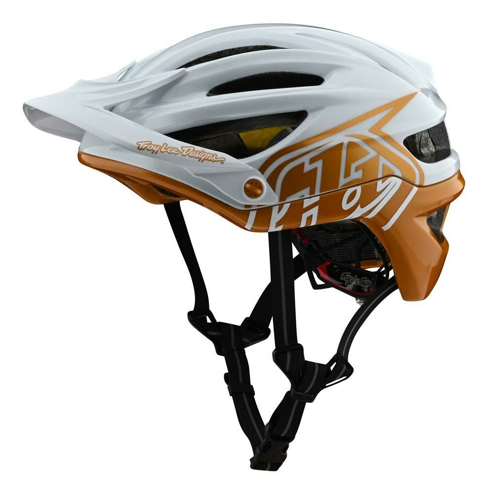 Troy Lee Designs A2 Mountainbike Helm weiss/gold