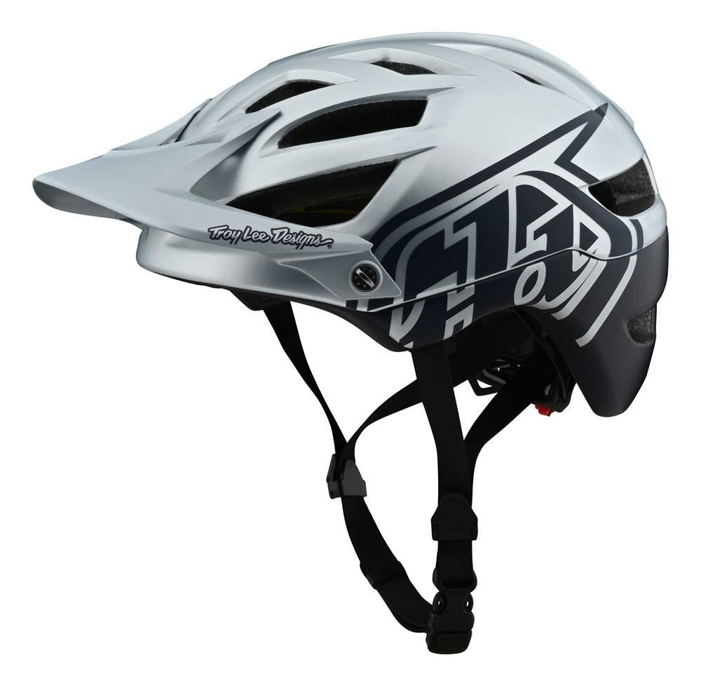 Troy Lee Designs A1 MIPS All Mountain Helm silber/navy