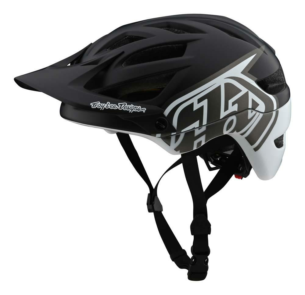 Troy Lee Designs A1 MIPS All Mountain Helm schwarz/weiss