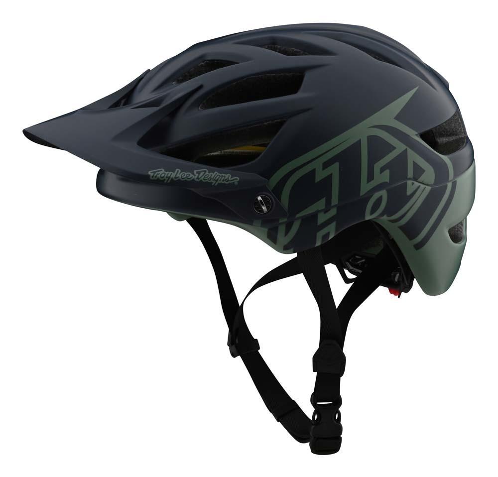 Troy Lee Designs A1 MIPS All Mountain Helm navy/dunkelgrün