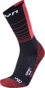 UYN Support Herren Fahrrad-Socke, black/hibiscus