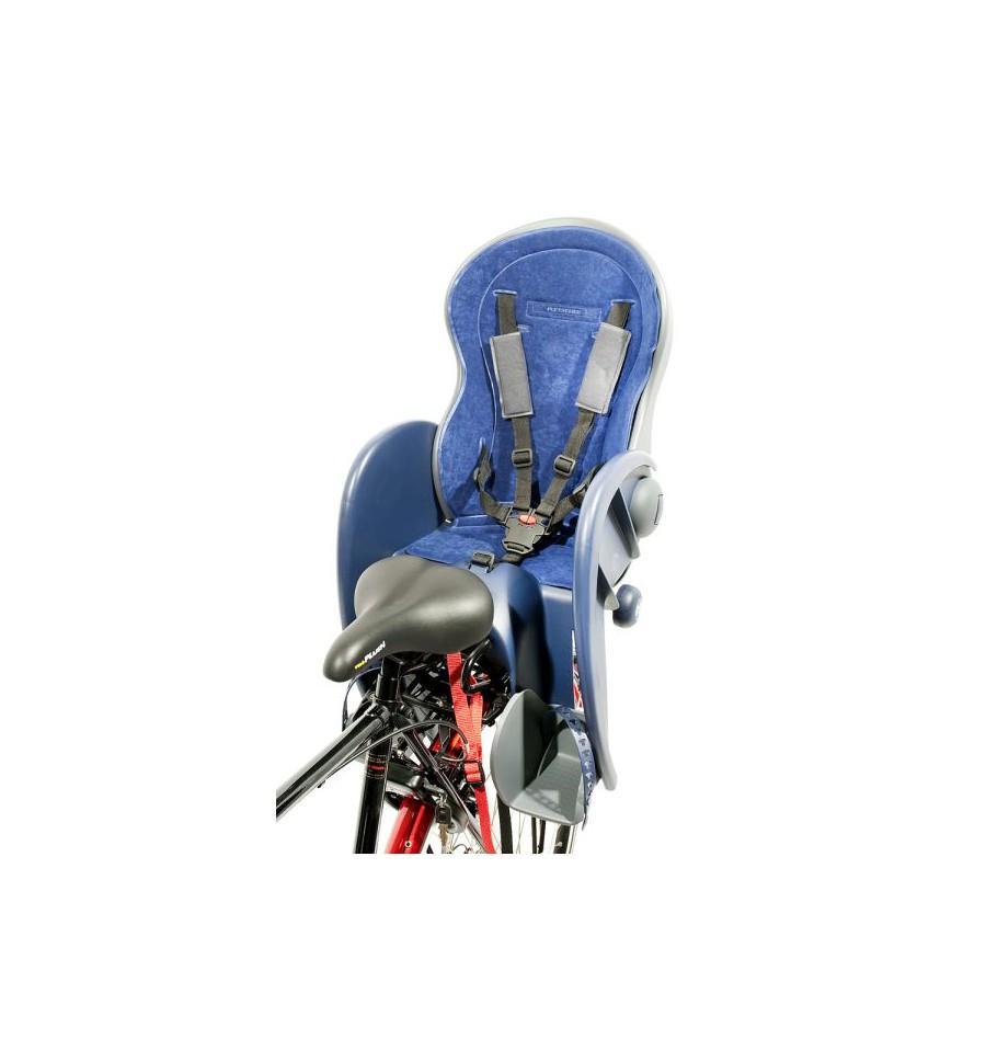 Polisport Wallaby Kindersitz, blau-grau mit 3-Punkt-Adapter